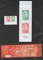 """FRANCE / 2018 / Y&T N° 5286/5287 ** : """"Marianne L'engagée"""" (les 4 Valeurs Du Carnet Composé Gommé N° 1525A Dont 2 TVP) - Unused Stamps"""