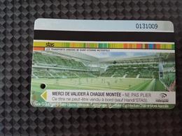 Ticket STAS Saint-Etienne - Stade Geoffroy Guichard - Football ASSE - 100 Unités Bus Tramway - 42 Loire - Bus
