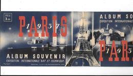 """Album Souvenir EXPOSITION INTERNATIONALE """"ART & TECHNIQUE""""  PARIS 1937 - Carnet De 40 Vignettes - Commemorative Labels"""