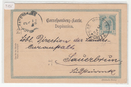Austria Slovenia Postal Stationery Postcard Travelled 1903 Jos. Vrečko Bizeljsko To Rohitsch-Sauerbrunn B190310 - Slovenia