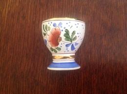 Coquetier Porcelaine De Clamecy - Art Populaire