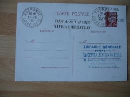 Ilot De Saint Nazaire Vive La Liberation Guerande Taxe Percue  11.5.1945 Carte Inter Zones - Marcophilie (Lettres)