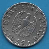 DEUTSCHES REICH 50 REICHSPFENNIG 1940A KM# 96 (svastika) - 50 Reichspfennig