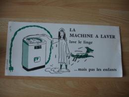 La Machine A Laver Lave Le Linge Pas Les Enfants - Buvards, Protège-cahiers Illustrés