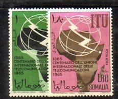XP3905 - SOMALIA 1965 , Posta Aerea Yvert N. 34/35 + Ordinario ***  Uit . - Somalia (1960-...)