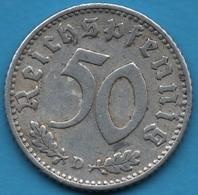 DEUTSCHES REICH 50 REICHSPFENNIG 1935 D KM# 87 - [ 4] 1933-1945 : Third Reich
