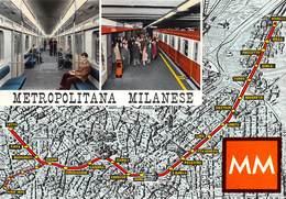 Italie - MILANO - Milan - Metropolitana Milanese MM - Plan - Milano