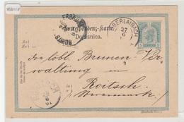 Austria Slovenia Postal Stationery Postcard Travelled 1901 Obrlaibach Vrhnika To Rohitsch-Sauerbrunn B190310 - Slovenia