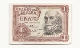 Espagne Billet De Una Peseta - [ 3] 1936-1975 : Régence De Franco