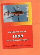 CALENDRIER DE POCHE. SAPEURS-POMPIERS 1999. Achat Immédiat - Calendriers