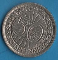 DEUTSCHES REICH 50 REICHSPFENNIG 1927 A KM# 49 - [ 3] 1918-1933 : Republique De Weimar