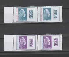 FRANCE / 2018 / Y&T N° 5270/5271 ** : Marianne De Digan (surchargée) TVP Europe/Monde X 2 Paires Dont BdF G - Unused Stamps