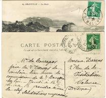 DEUX EXEMPLAIRES DU 159 PIQUAGE A CHEVAL SUR CPA - Storia Postale
