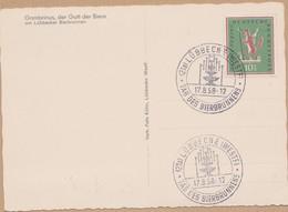 CARTE TIMBRE  1958 LUBBECKER (WESTF) GAMBRINUS DER GOTT DER BIEREVOIR PHOTOS - [7] République Fédérale