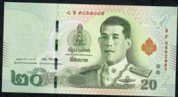 THAILAND NLPb 20 BAHT 28.7.2018 Signature 87  #8F  Revised Text XF - Thaïlande