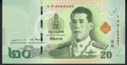 THAILAND NLPb 20 BAHT 28.7.2018 Signature 87  #1G  Revised Text AU - Thaïlande
