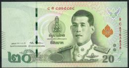 THAILAND NLPb 20 BAHT 28.7.2018 Signature 87  #8C Revised Text AU - Thaïlande