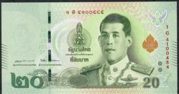 THAILAND NLPb 20 BAHT 28.7.2018 Signature 87  #1G Revised Text UNC - Thaïlande