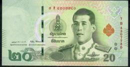 THAILAND NLPa 20 BAHT 6.4.2018 Signature 87  #7B  VF NO P.h. - Thaïlande