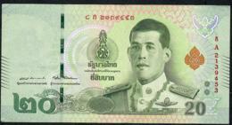 THAILAND NLPa 20 BAHT 6.4.2018 Signature 87  #8A  VF NO P.h. - Thaïlande