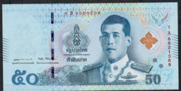 THAILAND NLPa 50 BAHT 6.4.2018 Signature 87  #1A  UNC. - Thaïlande