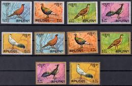 1968 BHOUTAN N** 143 A 152  MNH - Bhoutan
