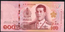 THAILAND NLPa 100 BAHT 6.4.2018 Signature 87  #1B  VF NO P.h. - Thaïlande