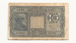 Italie Billet De 10 Lires - [ 1] …-1946 : Royaume
