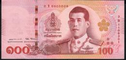 THAILAND NLPa 100 BAHT 6.4.2018 Signature 87  #3B  VF NO P.h. - Thaïlande
