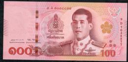 THAILAND P137b 100 BAHT 28.7.2018 Signature 87  #9D  UNC. - Tailandia