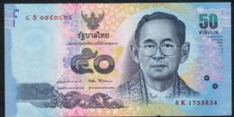 THAILAND P131 50 BAHT Dated 2015 (issued 2017) Signature 87  #8K   VF   ( 1 P.h. ) - Thaïlande