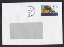 Germany: Cover, 2017, 1 Cinderella Stamp, Local Private Postal Service RegioPost Pfalz, Rock Formation (traces Of Use) - Lettres & Documents