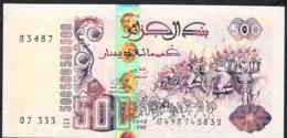 ALGERIA P141b 500 DINNARS 6.10.1998  Signature 2 UNC. - Algérie