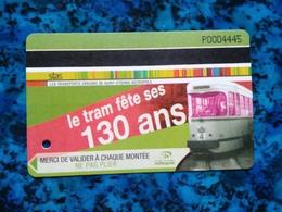 Ticket STAS Saint-Etienne  - Le Tram Fête Ses 130 Ans - Bus Tramway - 42 Loire - Bus
