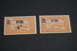 Afrique Française,2 Timbres Avec Surcharges,Guadeloupe - Postes, 2 F.,strictement Neuf Avec Gomme Sans Charnière - Guinée Equatoriale