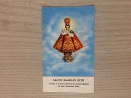 Santino Bambin Gesu' Venerato In Arenzano (ge) Presso Il Santuario Dei Padri Carmelitani Scalzi - Santini