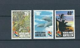 Netherlands Antilles, 2001, Hong Kong, Nature 3v  MNH - Antillas Holandesas