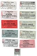 BIGLIETTI CINEMA DI TORINO - NR. 11 BIGLIETTI - TITOLI FILM - Biglietti D'ingresso