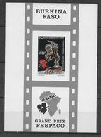 1991 - BURKINA FASO - YT N° BLOC 40 NON DENTELE (RARE) - CINEMA - Burkina Faso (1984-...)