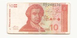 Croatie 1991 Billet De 10 Dinara - Croatie