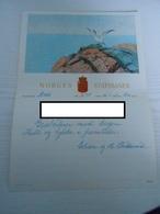 Norwegen Norway Schmuck Telegramm LX 9 Norges Statsbaner Moss 1952 Motiv Vogel Möve - Noorwegen