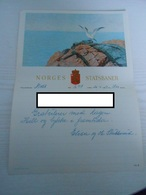 Norwegen Norway Schmuck Telegramm LX 9 Norges Statsbaner Moss 1952 Motiv Vogel Möve - Norvège