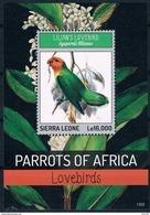 Bloc Sheet Perroquet Perroquets Parrots  Neuf ** MNH Sierra Leone 2014 - Parrots