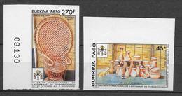 1990 - BURKINA FASO - YT N° 827+828 NON DENTELES (RARE) - ARTISANAT - Burkina Faso (1984-...)