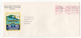 New Zealand Cover Scout Association Jamboree 16 Jun 1989 Dunedin To Auckland - Lettres & Documents
