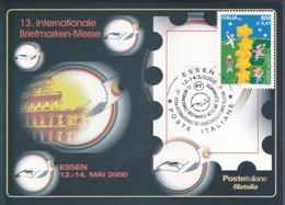 ITALIA REP. - 2000 - POSTE ITALIANE DIVISIONE FILATELIA:Essen ( Germania ) - Cartolina Ufficiale Poste Italiane. - Other