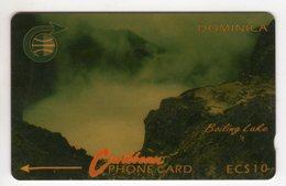 DOMINIQUE REF MV CARDS DOM-4A Année 1990 CN 4CDMA BOLLING LAKE - Dominica
