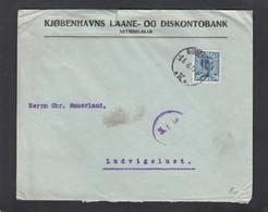 PERFORATION/PERFIN/FIRMENLOCHUNG EINER BANK IN KOPENHAGEN. - Lettres & Documents