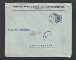 PERFORATION/PERFIN/FIRMENLOCHUNG EINER BANK IN KOPENHAGEN. - 1913-47 (Christian X)