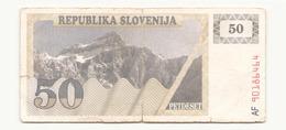 Slovénie Billet De 50 Tolars - Slovénie